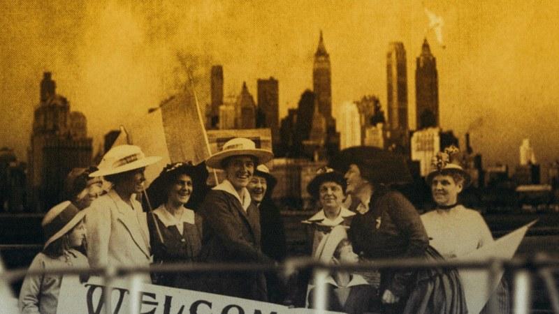 Die Pazifistin.Frauenliga in New York